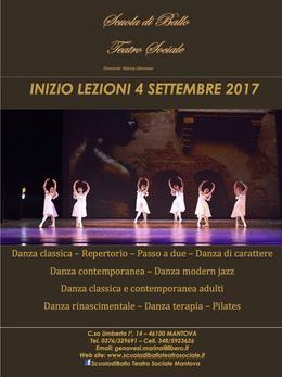 Inizio lezioni 4 settembre 2017